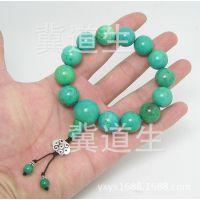 绿松石手链手串三通项链佛珠原石吊坠散珠挂件男女饰品