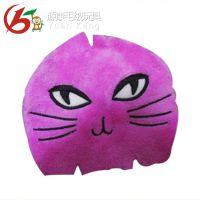 东莞绣花加工 长期承接猫咪表情裁片刺绣 猫咪表情刺绣加工