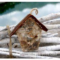 新品促销 zakka杂货木质工艺品 纯手工原生态小木屋挂件ZG14023