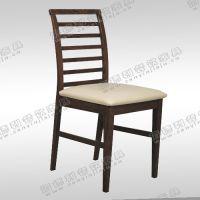 厂家直销 定做美式餐厅火锅餐桌椅 天然实木沙发椅 步步高护背梯椅