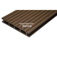 供应绿森林木塑空心地板_户外地板 145×21mm