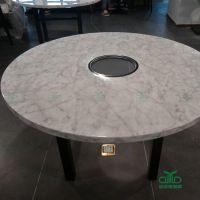 深圳主题餐厅 大理石电磁炉火锅桌椅 火锅桌椅厂家运达来