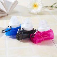 创意新奇硅胶可折叠水壶 居家旅游便捷随手杯 旅行用品新品水瓶