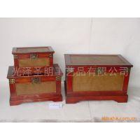 厂家直销特价仿古梳妆盒 复古木质收纳带镜子首饰盒 道具木盒