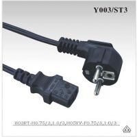 欧规VDE CEE EN50075电源线 Y003配品字尾 ST3C13生产厂家-欧规VDE CEE