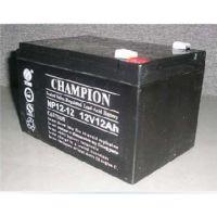 兴平冠军蓄电池生产厂家办事处销售12V33AH免维护铅酸蓄电池