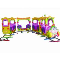 供应卡通玻璃钢顶小火车,儿童小火车,呜呜呜,出发了......