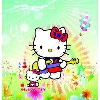 花都热转印厂供应可爱卡通kitty猫烫画 书包学生包热升华数码印花