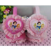 批发正品迪士尼公主心形蕾丝耳罩儿童耳耳暖可调节DCM00578