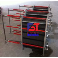 陕西省咸阳市空压机余热回收水水汽水板式换热器 板式热交换器