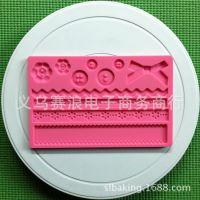 蝴蝶结翻糖蛋糕糖艺压花垫干佩斯 厨房烘焙硅胶器具 陶艺粘土工具