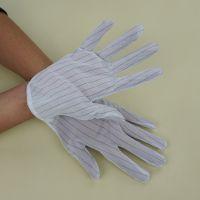 东莞加厚双面防静电点胶手套 深圳防静电条纹点塑手套