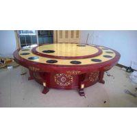 雅典娜酒店家具公司定制实木电动餐桌