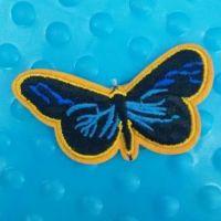 【澳德绣花】厂家现货供应蝴蝶补贴卡通刺绣工作服徽章定做卡通毛巾绣