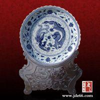 景德镇唐龙陶瓷盘子定做批发厂家,青花瓷大盘子,海鲜大盘