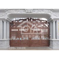 庭院实心铸铝豪华门、一次成型别墅电动大门定制。欧雅斯庭院防盗铸铝实心门