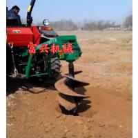 2017新款4冲程双人挖坑机 富兴大马力汽油挖坑机 山地园林螺旋挖坑机
