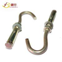 铁制镀彩锌膨胀带钩螺丝 膨胀钩螺栓 M6M8M10M12 佛山厂家供应