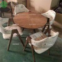 贴木皮餐厅简易餐桌椅 饮品奶茶店板式餐桌定做厂家