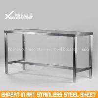 201 8k mirror finish stainless steel writing table frame and legs