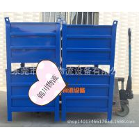 东莞锦川物流设备金属箱 、定制金属储物箱、折叠式周转箱Q235钢材、非标周转框厂家