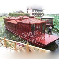 江西赣州木船厂家画舫船大型电动观光休闲旅游餐饮船客船