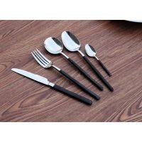 黑色柄磨砂手柄不锈钢刀叉304欧式高档不锈钢西餐餐具