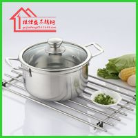 厂家直销出口不锈钢汤锅304汤锅电磁炉锅复底汤锅配玻璃
