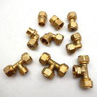 批发 铝塑管铜接头 直接 弯头 三通 多种规格活接头内丝外丝直接