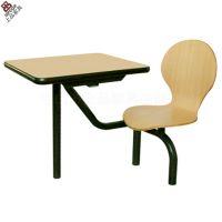 重庆麦当劳餐桌椅哪里好?上品家具有十二年的生产经验为您推荐欧式板式连体餐桌椅 SP-LT311
