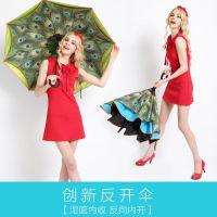 听雨雨伞 双层反收伞 反向伞 直杆 可加工加印 多色选购 突破科技,启迪未来2016广告礼