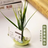mxmade欧式创意透明玻璃枫叶名片架花瓶水培花器时尚家居饰品
