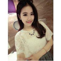 Miss JTO2014新款韩版宽松大码网纱T恤民族图腾透明罩衫A20-51313