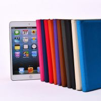 厂家直销iPadmini2布纹旋转 支架皮套魔术贴包边平板电脑保护套