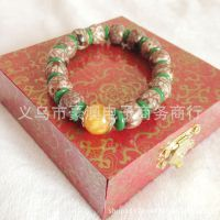 新款天然菩提子佛珠手链 印尼红血丝金线菩提子桶珠手串 低价批发