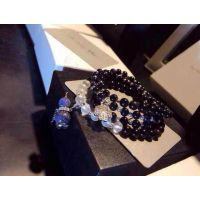 天然黑玛瑙   925纯银四叶草 青金石葫芦女款手链招代理一件代发
