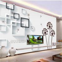 大型壁画 卧室客厅电视背景墙壁纸定制 3d浪漫蒲公英加厚自粘墙纸