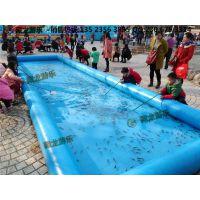 小孩玩的那个充气鱼池多少钱,充气水池钓鱼池能挣钱吗?