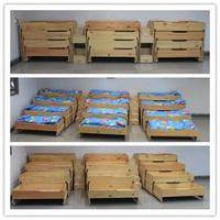 多功能实木简易幼儿园家具幼儿园推拉抽屉床,大林宝宝定做