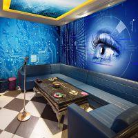 3d立体科幻空间KTV走廊包间大型壁画时光隧道网吧网咖背景墙纸