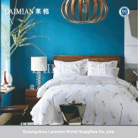 莱棉酒店客房布草 活性印花简约纯棉面料床上四件套正品 尺寸定制