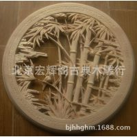 东阳木雕挂件 实木饰品 仿古雕刻挂件 木质挂饰 雕花圆挂件