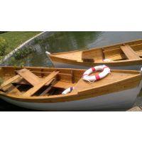 观光木船 欧式风格观光手划船