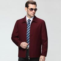 秋装新款金利来男装夹克 2015时尚商务翻领茄克羊毛天丝外套正品