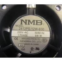原装正品NMB 2412PS-12W-B30 115V 4.5W 机柜耐高温散热风扇