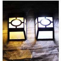 厂家直供若盛太阳能LED户外超亮家用窗格花园欧式庭院灯景观围墙壁灯一件代发