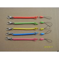 厂家供应钥匙扣弹簧绳 手机挂饰绳 PU、EVA彩色透明塑料弹