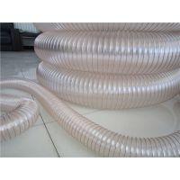 供应镀铜钢丝软管木工车间吸尘管透明钢丝伸缩管