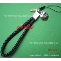 编织手机挂绳   PU手机绳      皮革手机带