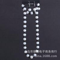 珍珠+水晶项链手链耳环套装 厂家直销 速卖通ebay敦煌低价货源